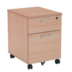 RS to Go RS to-go two-drawer mobile pedestal in beech-effect