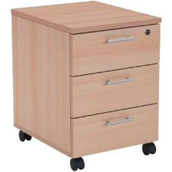 RS to Go RS to-go Three-drawer mobile pedestal in beech-effect
