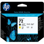 Original HP No72 matte black and yellow printhead C9384A