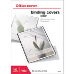 Office Depot A4 Clear PVC Binding Covers 150 Micron 100pk
