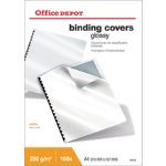 Office Depot A4 Binding Covers White Glossy 250gsm Pack of 100