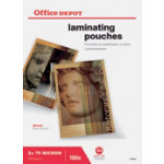 Office Depot A4 150 Micron Clear Gloss Laminating Pouches Pack of 100