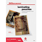 Office Depot Laminating Pouches 150 microns transparent Pack 100