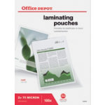 Office Depot Laminating Pouches 150 Micron A4 Matt Pack of 100