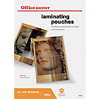 Office Depot A4 250 2 x 125 Micron Clear Gloss Laminating Pouches Pack of 100