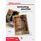 Office Depot Laminating Pouches 150 2 x 75 Micron A3 Clear Gloss Pack of 100