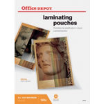 Office Depot Laminating Pouches 250 2 x 125 Micron A3 Clear Gloss Pack of 100