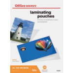 Office Depot Laminating Pouches 250 2 x 125 Micron A5 Clear Gloss Pack of 100