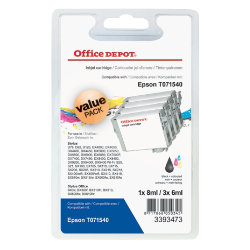 Office Depot Compatible for Epson T0715 Black & 3 Colours Ink Cartridge T0715