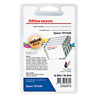 Office Depot Compatible Epson T0715 Ink Cartridge C13T07154010 Black 3 Colours Pack 4