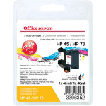 Office Depot Compatible HP 45 78 Black Colour Inkjet Cartridges