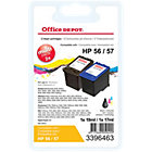 Office Depot Compatible for HP 56  57 Black 3 Colours Ink Cartridge SA342AE