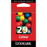 Lexmark 29A Cyan Magenta Yellow Printer Ink Cartridge 18C1529