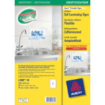 Avery L7087 10 Self Laminating Adhesive Signs 257x170mm White 10 pk