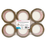 Office Depot Industrial Tape Brown 50mm x 66m 6 Rolls Per Pack