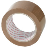 Office Depot Heavy Duty Low Noise Tape Brown 50mm x 66m 6 Rolls Per Pack