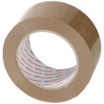 Office Depot Heavy Duty Low Noise Tape Brown 50mm x 100m 6 Rolls Per Pack