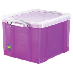 Really Useful Plastic Storage Box 310H x 390W x 480D mm  35 Litre Purple