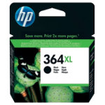 Original HP No364XL high capacity black printer ink cartridge CC684EE