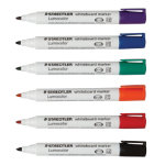 Staedtler Lumocolor Whiteboard Markers Bullet Assorted Pk 6