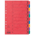 Europa Pressboard Dividers Coloured A4 10 Part 1 10 Numbered Set
