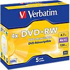 Verbatim DVDRW 16X 47GB Jewelcase 5 Pack