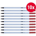 Niceday Fineliner Pen FL04 Red Pack 10