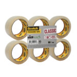 Scotch Classic Packaging Tape Transparent 43 50 mm x 66 m Pack 6