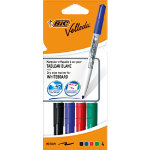 Bic Velleda Whiteboard Marker Assorted Pack of 4