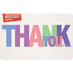 ONE4ALL Gift Card Thank You pound100