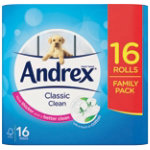 Andrex Toilet Paper Classic 2 ply Pack 16