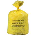 Yellow Sacks Clinical 8Kg 90 Litres Printed Roll of 50