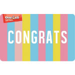 ONE4ALL Gift Card Congrats