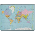 Durable world map desk mat 400 x 530 mm