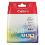 Canon BCI 6C M Y Original 3 Colours Ink Cartridge 4706A029