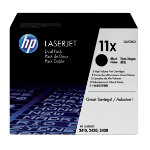 HP No11X Hi Yield Black Toner Cartridge Twin Pack Q6511XD