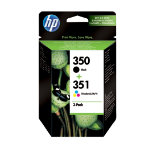 HP 350  351 Original Black 3 Colours Ink cartridge SD412EE