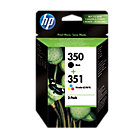 Original HP No350 and No351 black and tri colour cyan magenta yellow printer ink cartridges twinpack SD412EE