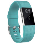 Fitbit Activity  Sleep Tracker Charge 2 Large Teal Silver