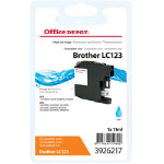 Office Depot Compatible for Brother LC 123 Cyan Ink Cartridge LC124