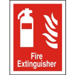 Stewart Superior Fire Extinguisher Sign