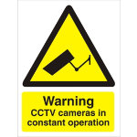PVC Warning CCTV Cameras in Constant Operation sign 125 x 150mm