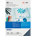 GBC A4 HiClear Transparent PVC Binding Covers 300 Microns 100 Per Pack