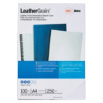 GBC A4 Leather Look Binding Covers White 180 Microns 100 Per Pack