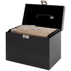Metal File Box Black