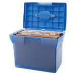Plastic File Box Blue