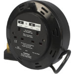 2 Socket 10 Metre Mains Extension Cable Reel
