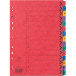 Europa Pressboard Dividers Coloured A4 15 Part 1 15 Numbered Set