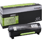 Lexmark 502H High Yield Return Program Black Toner Cartridge