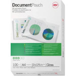 GBC Document Pouches 250 2 x 125 Microns A4 216 x 303mm 100pk